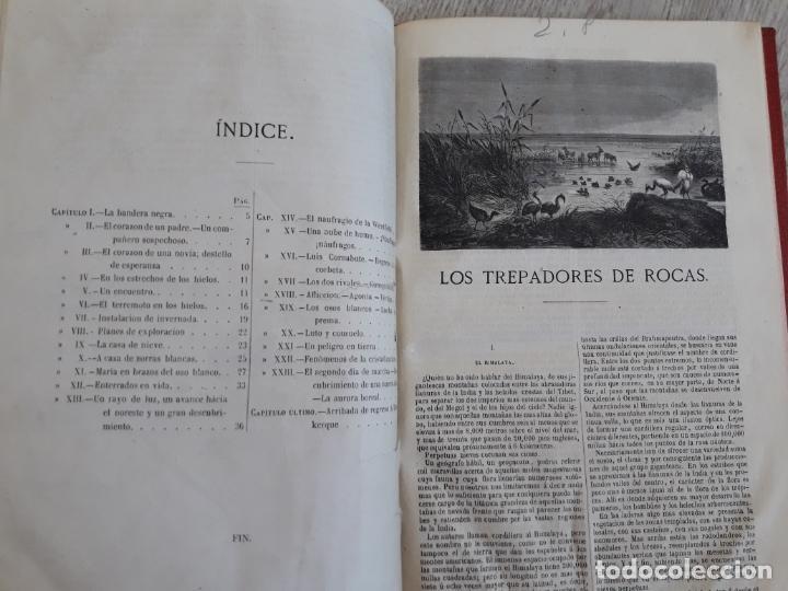Libros antiguos: Julio Verne - Obras 1885 2 Vols, contienen seis títulos - Foto 5 - 162762938