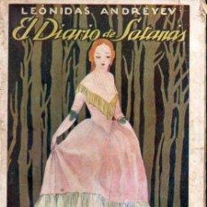 Libros antiguos: ANDREYEV : EL DIARIO DE SATANÁS (RIVADENEYRA, C. 1925). Lote 163949082