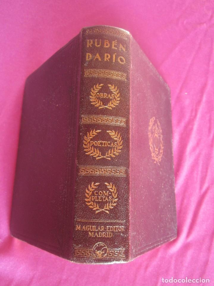 Libros antiguos: POESÍAS OBRAS COMPLETAS RUBÉN DARÍO .PRIMERA EDICION 1932 AGUILAR - Foto 2 - 164467030