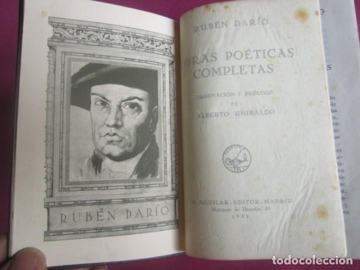 Libros antiguos: POESÍAS OBRAS COMPLETAS RUBÉN DARÍO .PRIMERA EDICION 1932 AGUILAR - Foto 3 - 164467030