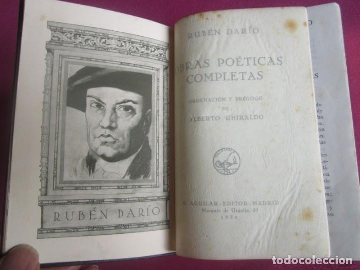 Libros antiguos: POESÍAS OBRAS COMPLETAS RUBÉN DARÍO .PRIMERA EDICION 1932 AGUILAR - Foto 11 - 164467030