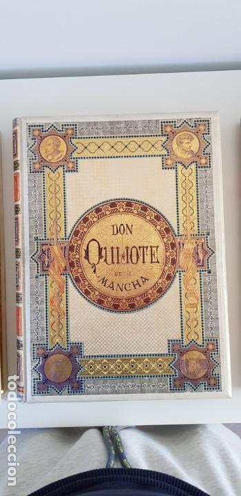 Libros antiguos: 1880.INGENIOSO HIDALGO DON QUIJOTE DE LA MANCHA.MONTANER SIMON. EXCLUSIVA 4 TOMOS BALACA. CERVANTES - Foto 2 - 164889466