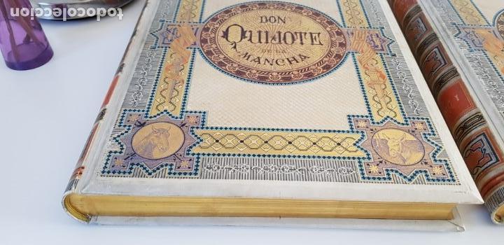 Libros antiguos: 1880.INGENIOSO HIDALGO DON QUIJOTE DE LA MANCHA.MONTANER SIMON. EXCLUSIVA 4 TOMOS BALACA. CERVANTES - Foto 6 - 164889466
