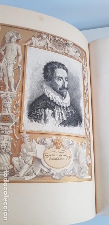 Libros antiguos: 1880.INGENIOSO HIDALGO DON QUIJOTE DE LA MANCHA.MONTANER SIMON. EXCLUSIVA 4 TOMOS BALACA. CERVANTES - Foto 9 - 164889466