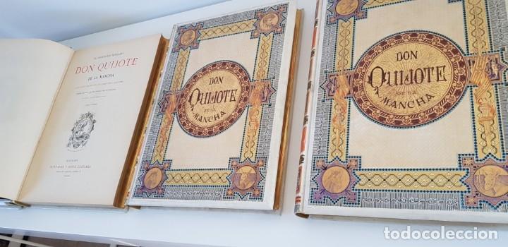 Libros antiguos: 1880.INGENIOSO HIDALGO DON QUIJOTE DE LA MANCHA.MONTANER SIMON. EXCLUSIVA 4 TOMOS BALACA. CERVANTES - Foto 7 - 164889466