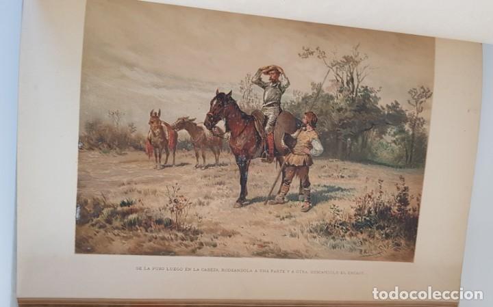 Libros antiguos: 1880.INGENIOSO HIDALGO DON QUIJOTE DE LA MANCHA.MONTANER SIMON. EXCLUSIVA 4 TOMOS BALACA. CERVANTES - Foto 21 - 164889466