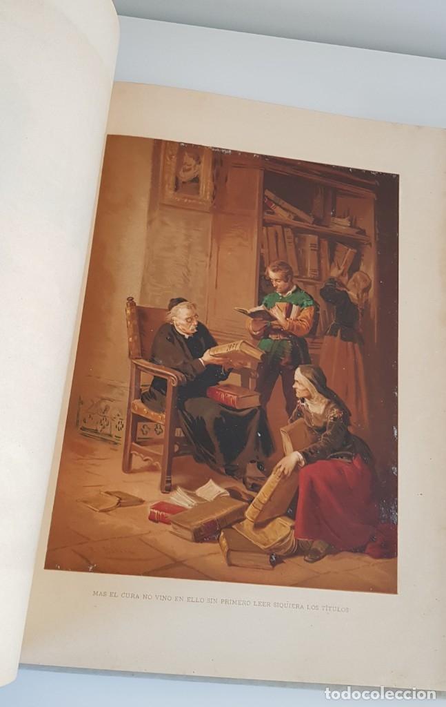 Libros antiguos: 1880.INGENIOSO HIDALGO DON QUIJOTE DE LA MANCHA.MONTANER SIMON. EXCLUSIVA 4 TOMOS BALACA. CERVANTES - Foto 20 - 164889466