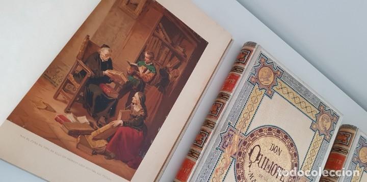 Libros antiguos: 1880.INGENIOSO HIDALGO DON QUIJOTE DE LA MANCHA.MONTANER SIMON. EXCLUSIVA 4 TOMOS BALACA. CERVANTES - Foto 19 - 164889466