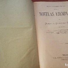 Libri antichi: NOVELAS EJEMPLARES, MIGUEL DE CERVANTES, BIBLIOTECA UNIVERSAL, MADRID 1876. Lote 165325074