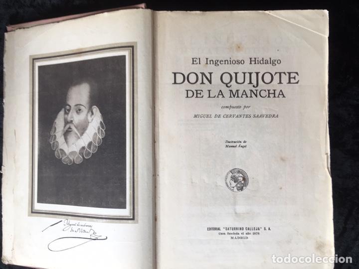 Libros antiguos: DON QUIJOTE DE LA MANCHA - CERVANTES - CALLEJA - COMPLETO - ILUSTRACIONES MANUEL ANGEL - Foto 3 - 165744322
