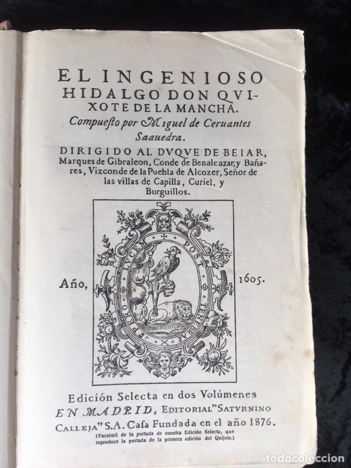 Libros antiguos: DON QUIJOTE DE LA MANCHA - CERVANTES - CALLEJA - COMPLETO - ILUSTRACIONES MANUEL ANGEL - Foto 4 - 165744322