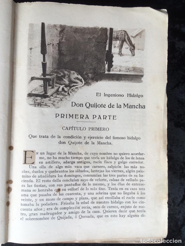 Libros antiguos: DON QUIJOTE DE LA MANCHA - CERVANTES - CALLEJA - COMPLETO - ILUSTRACIONES MANUEL ANGEL - Foto 8 - 165744322