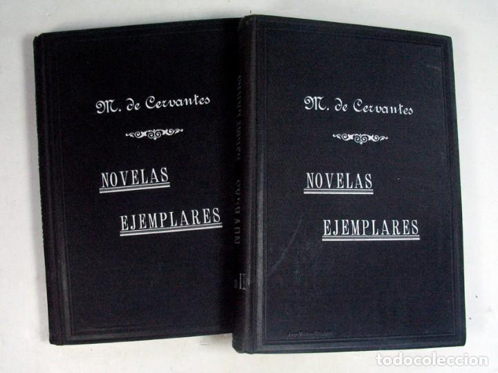 CERVANTES. NOVELAS EJEMPLARES. VALLADOLID. 1905. DOS TOMOS. (Libros antiguos (hasta 1936), raros y curiosos - Literatura - Narrativa - Clásicos)