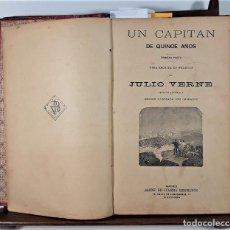 Libros antiguos: OBRAS DE JULIO VERNE. EDIT. SAENZ DE JUBERA, HERMANOS. MADRID. SIGLO XX.. Lote 165960946