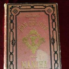 Libros antiguos: DON QUIJOTE DE LA MANCHA - CERVANTES LÁMINAS DE R. PUIGGARI - SALVADOR RIBAS 1881 2 TOMOS EN 1 VOL.. Lote 165999594