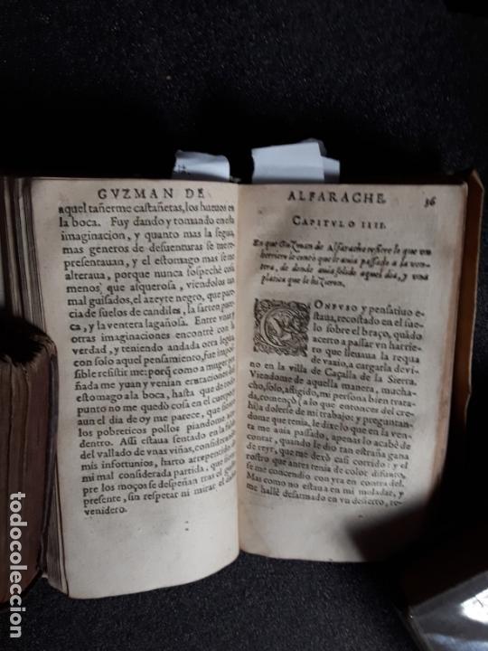 Libros antiguos: Mateo Alemán. Guzmán de Alfarache. 1ª edición impresa en Francia (1600). Una joya. - Foto 2 - 166093086