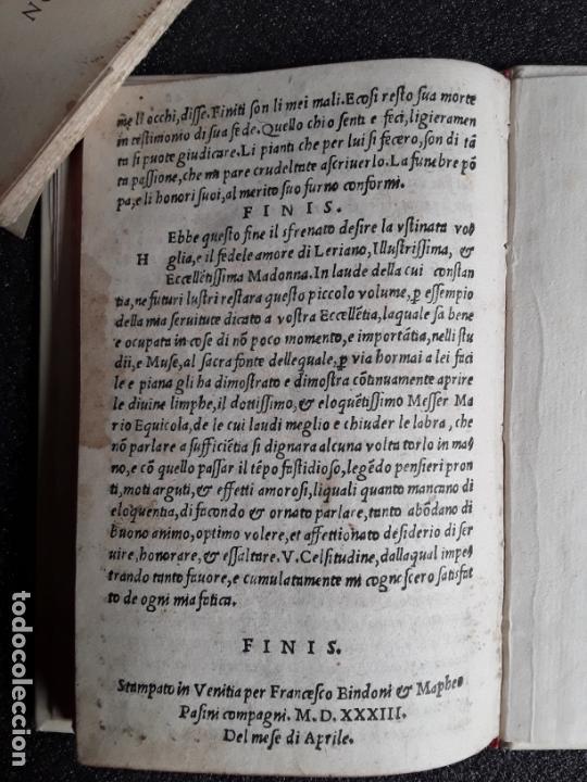 Libros antiguos: SAN PEDRO, Diego de. Carcer damore… Venecia, 1533. Buena traducción al italiano. - Foto 4 - 166101042