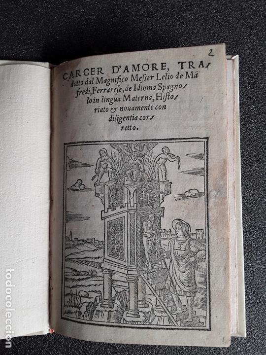 SAN PEDRO, DIEGO DE. CARCER D'AMORE… VENECIA, 1533. BUENA TRADUCCIÓN AL ITALIANO. (Libros antiguos (hasta 1936), raros y curiosos - Literatura - Narrativa - Clásicos)