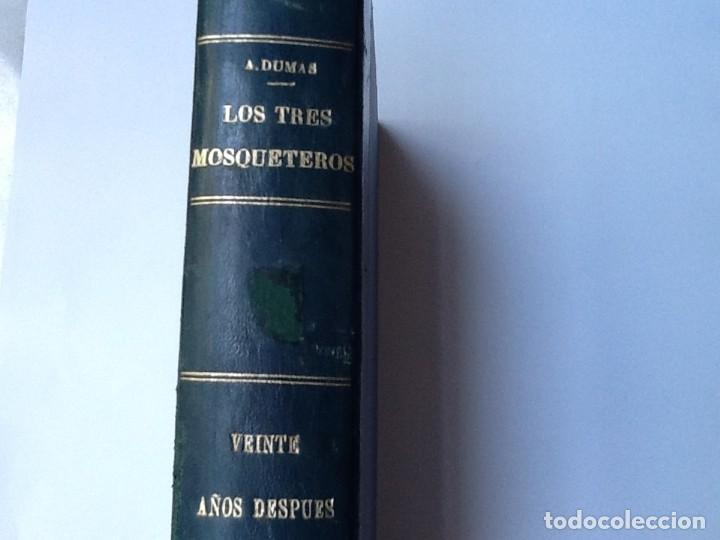 LIBRO. DEL SIGLO XIX LOS TRES MOSQUETEROS Y VEINTE AÑOS DESPUÉS. EN UN VOLUMEN, DE ALEJANDRO DUMAS. (Libros antiguos (hasta 1936), raros y curiosos - Literatura - Narrativa - Clásicos)