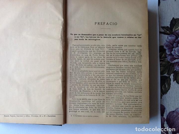 Libros antiguos: LIBRO. DEL SIGLO XIX LOS TRES MOSQUETEROS Y VEINTE AÑOS DESPUÉS. EN UN VOLUMEN, DE ALEJANDRO DUMAS. - Foto 4 - 166166362