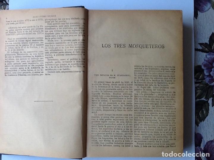 Libros antiguos: LIBRO. DEL SIGLO XIX LOS TRES MOSQUETEROS Y VEINTE AÑOS DESPUÉS. EN UN VOLUMEN, DE ALEJANDRO DUMAS. - Foto 5 - 166166362