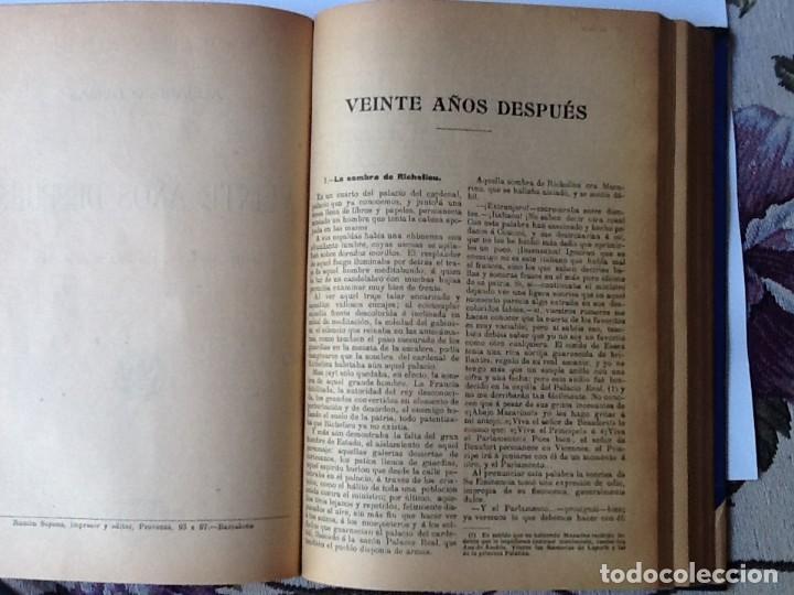 Libros antiguos: LIBRO. DEL SIGLO XIX LOS TRES MOSQUETEROS Y VEINTE AÑOS DESPUÉS. EN UN VOLUMEN, DE ALEJANDRO DUMAS. - Foto 6 - 166166362