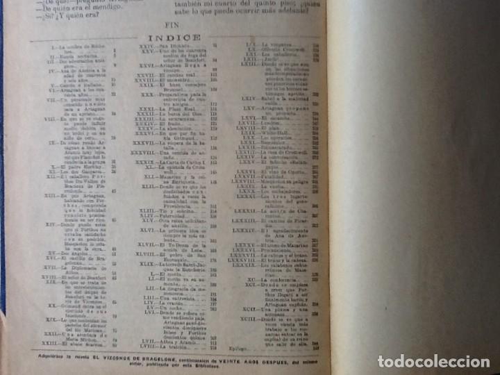 Libros antiguos: LIBRO. DEL SIGLO XIX LOS TRES MOSQUETEROS Y VEINTE AÑOS DESPUÉS. EN UN VOLUMEN, DE ALEJANDRO DUMAS. - Foto 7 - 166166362
