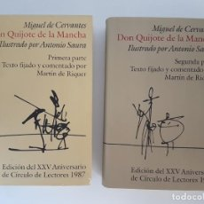 Libros antiguos: DON QUIJOTE DE LA MANCHA ( MIGUEL DE CERVANTES ) 2 TOMOS. Lote 167691476