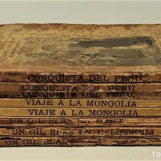 Libros antiguos: BIBLIOTECA MADRILEÑA. 8 EJEMPLARES. VV. AA. IMP. GALERIA LITERARIA. MADRID. 1873/74.. Lote 167797708