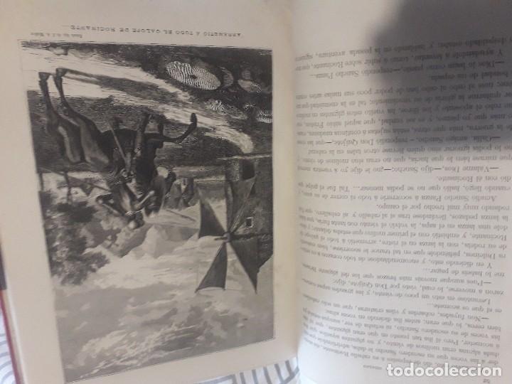 Libros antiguos: Don quijote 1875 2 tomos grabados gran lujo - Foto 6 - 168363112