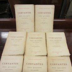 Libros antiguos: CERVANTES, DON QUIJOTE DE LA MANCHA, EDIC. LA LECTURA, MADRID 1911 - 1913, 8 TOMOS COMPLETA. Lote 168832628