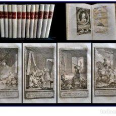 Libros antiguos: AÑO 1796-15: AMADÍS DE AGULA, ORLANDO FURIOSO... OBRAS DE TRISTÁN. 12 TOMOS. OBRA COMPLETA.. Lote 168999760