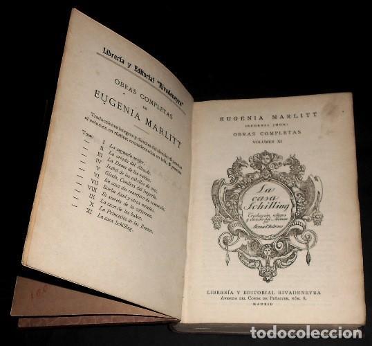 Libros antiguos: LA CASA SCHILLING. EUGENIA MARLITT. OBRAS COMPLETAS (XI). EDITORIAL RIVADENEYRA. AÑOS 20. - Foto 3 - 169553244