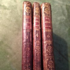 Libros antiguos: 1787. LOTE VOZ DE LA NATURALEZA. TOMOS 1, 4 Y 6. MARIANO DE ANAYA/ IGNACIO GARCÍA MALO.. Lote 169840316