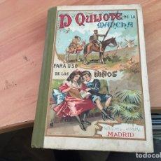 Libros antiguos: DON QUIJOTE DE LA MANCHA PARA NIÑOS (CERVANTES) ED. SUCESORES DE HERNANDO 1927 (LB37). Lote 170089104