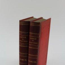 Libros antiguos: L-1578.OBRAS DE JULIO VERNE, ED.ILUSTRADA CON GRABADOS . 1870-1886. BIBL.GASPAR Y ROIG.18 OBRAS.. Lote 170259652