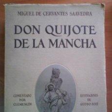 Libros antiguos: 1930 DON QUIJOTE / CERVÁNTES - ILUSTRACIONES DE DORÉ - COMENTARIOS DE CLEMENCI. Lote 170896225