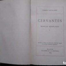 Libros antiguos: CLÁSICOS CASTELLANOS-CERVANTES-NOVELAS EJEMPLARES-TOMO I-EDICIONES DE LA LECTURA- 1914. Lote 171025140