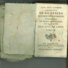 Libros antiguos: LOS SEIS LIBROS PRIMEROS DE LA ENEIDA. TOMO III. PUBLIO VIRGILIO MORON. Lote 171095147