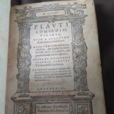 Libros antiguos: 1566. COMEDIAS. PLAUTO. IMPRENTA DE CRISTÓBAL PLANTINO.. Lote 171103909