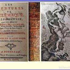 Libros antiguos: AÑO 1776: LAS AVENTURAS DE TELÉMACO, HIJO DE ULISES. LIBRO ILUSTRADO DEL SIGLO XVIII.. Lote 171200208