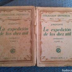 Libros antiguos: LA EXPEDICION DE LOS DIEZ MIL DE JENOFONTE ESPASA CALPE 1930 EN DOS TOMOS. Lote 171357422