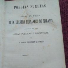 Libros antiguos: 1882. OBRAS DE D. LEANDRO FERNÁNDEZ DE MORATIN Y D. NICOLÁS FERNÁNDEZ DE MORATIN. . Lote 172027977