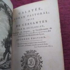 Libros antiguos: 1784. GALATEA. M. DE FLORIAN. BONITA EDICIÓN.. Lote 172153970