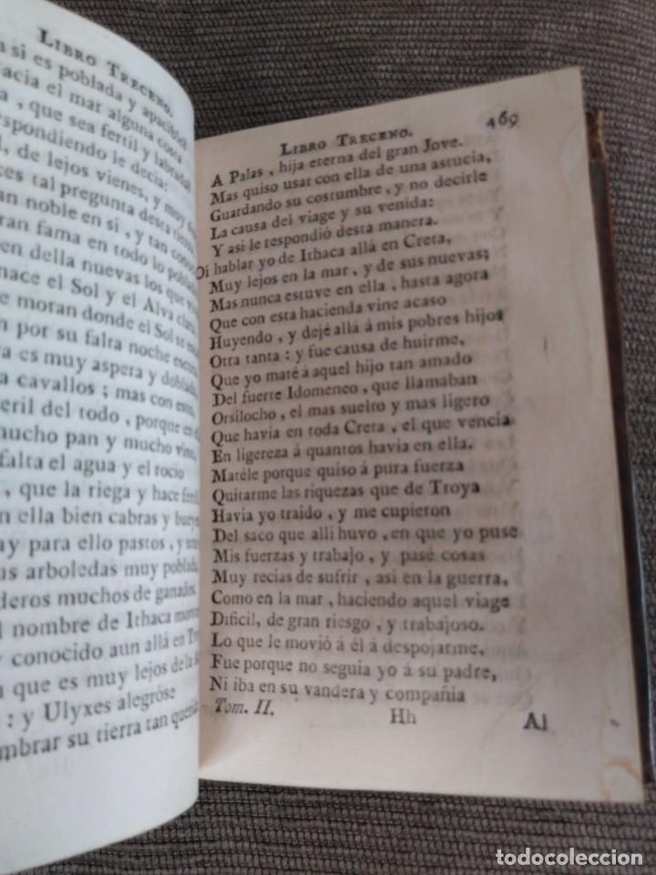 Libros antiguos: 1767. La Ulixea de Homero. Tomo II. Traducción de Gonzalo Pérez. - Foto 3 - 172299758