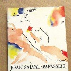 Libros antiguos: JOAN SALVAT-PAPASSEIT. EL POEMA DE LA ROSA ALS LLAVIS. ARIEL. EN CATALÁN. PORTADA JOSEP GUINOVART. . Lote 172413320