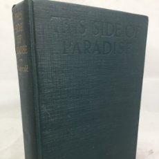 Libros antiguos: THIS SIDE OF PARADISE F. SCOTT FITZGERALD 1920 1ª EDICIÓN 2ª REIMPRESIÓN MUY BUEN EJEMPLAR - INGLÉS. Lote 172599735