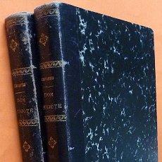Libros antiguos: EL INGENIOSO HIDALGO DON QUIJOTE DE LA MANCHA (2 VOLS) - M. DE CERVANTES - DEDICATORIA - 1881. Lote 173091827