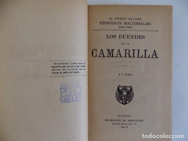 Libros antiguos: LIBRERIA GHOTICA. LUJOSA EDICION DE PEREZ GALDÓS.LOS DUENDES DE LA CAMARILLA.LA REVOLUCIÓN DE JULIO. - Foto 3 - 173378849