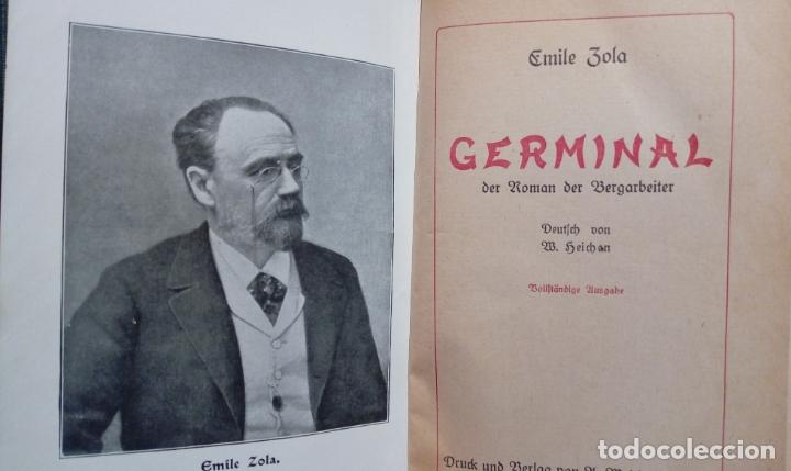 Libros antiguos: EMILE ZOLA GERMINAL. EDICIÓN ALEMANA DE 1921 LETRA GÓTICA. Texto en alemán - Foto 2 - 173652323